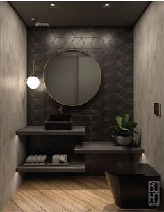 Luxus-Badezimmer-Muster-Tapete Linda Carpenter 2019 Luxus-Badezimmer-Muster-Tapete Linda Carpenter The post Luxus-Badezimmer-Muster-Tapete Linda Carpenter 2019 appeared first on Bathroom Diy. Bad Inspiration, Bathroom Inspiration, Interior Design Inspiration, Design Ideas, Design Trends, Wc Design, Design Awards, Luxury Bathroom Vanities, Bathroom Design Luxury