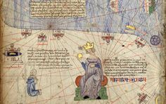 Map of Arabia, from Atlas de Cartes Marines by Abraham Cresques, 1375