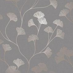 Glistening Ginkgo Grey  wallpaper by Albany