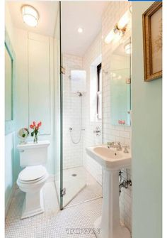 sumptuous design ideas subway tile bathroom images. Traditional Bathroom with Pedestal sink  White subway tile glossy frameless showerdoor High ceiling flush light Sumptuous Tudor Style Homes method Philadelphia