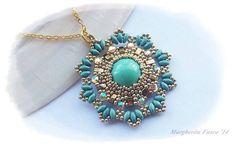 DIY Aglaia pendant pattern. How to make a pendant. por 75marghe75