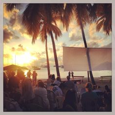 Movie night, Water Island, Virgin Islands