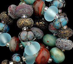 Handmade Lampwork,Handmade Beads,Lampwork Beads,Organic Beads,Debbie Sanders,Beads For Jewelry,Beads,Beaded Bracelet,Beads For Necklace,Bead by debbiesanders on Etsy https://www.etsy.com/listing/160656827/handmade-lampworkhandmade-beadslampwork