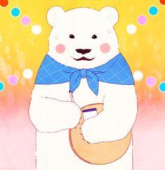 Panda-kun as Shirokuma-kun