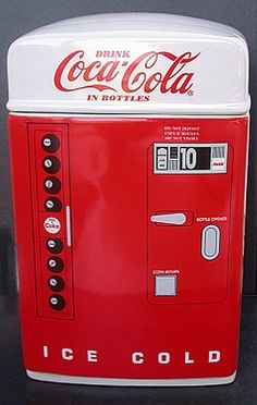 Coca-Cola 1995 Vendo Coke Machine Cookie Jar