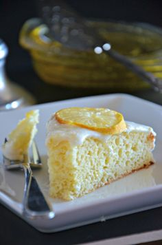 Greek Yogurt Meyer Lemon Cake, www.mountainmamacooks.com