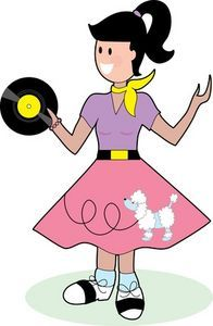 Fifties Birthday Party Ideas- no pics- just lots of ideas- Scrabble/hoola-hoop/dances/songs/root beer floats/outfits/etc Fifties Party, Retro Party, Diner Party, 1950s Party, 50s Theme Parties, Party Themes, Party Ideas, 50s Sock Hop, Fifty Birthday