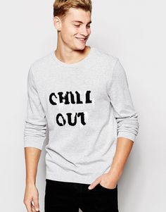 ASOS+Christmas+Jumper+with+Chill+Out+Design