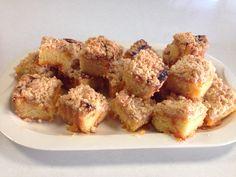 Crumb cake con marmellata di albicocche