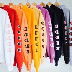 Champion Long Sleeve Hedging Pullover Sweater Hoodies from charmvip. Saved to Tops.