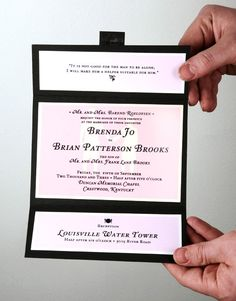 Invitations.  Tri fold with invite in middle, info on trolly/directions on top, and rsvp on bottom.