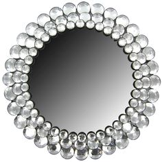 Modern Round Circle Chic Crystal BLING Gemstone Accented Wall Mirror Decor for sale online Wall Mirror Online, Mirror Shop, Round Wall Mirror, Diy Mirror, Mirror Art, Sunburst Mirror, Foyer Mirror, Glam Mirror, Mirror Crafts
