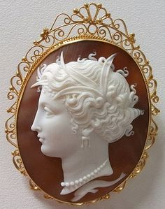 Magnificent Large Victorian Museum Quality Cameo of Arethusa