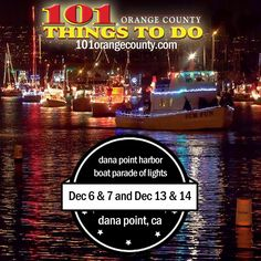 Don't forget about the Dana Point Harbor Boat Parade of Lights going on on weekends through the month of December! #holidays #danapoint #danaharbor #southerncalifornia #orangecounty #kids #family #holidayseason #tistheseason #boatparadeoflights