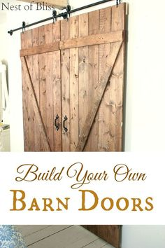 DIY Barn Doors - (Nest of Bliss)