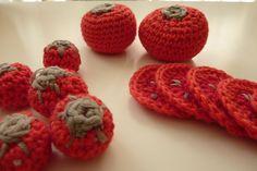 Jeu au crochet - Les petites tomates de la marchande- L'Atelier d'Emilie