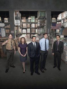 Still of Steve Carell, Jenna Fischer, Rainn Wilson, John Krasinski and B.J. Novak in The Office