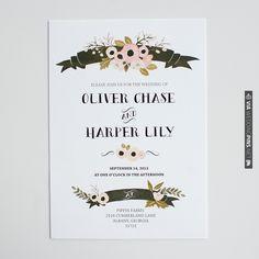 the sophia invitation suite   wedding invitations | the wedding chicks | VIA #WEDDINGPINS.NET