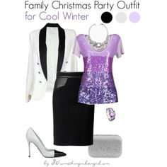Family Christmas Party Outfit/Holiday look for Cool Winter by thirtysomethingurbangirl on Polyvore | #party #PartyWear #Christmas #Howtostyle #CoolWinter #WinterSummer #holiday #holidaylook