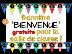 """Bannière de """"BIENVENUE"""" pour la salle de classe. GRATUIT! Plus"""