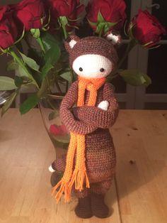 FIBI the fox made by Mariela T. / crochet pattern by lalylala