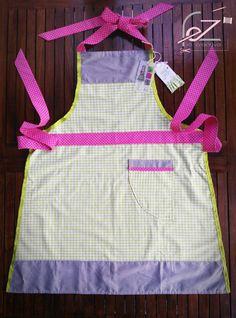 """*Fez* - Grembiule fatto a mano in cotone colorato - Modello """"Valeria"""" / apron handmade - DIY stitching"""