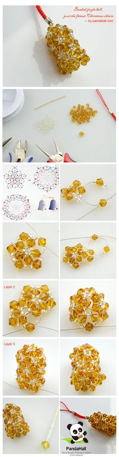 It is a free tutorial about how to make a beaded jingle bell to ornament your Xmas time; I will show you the detailed steps and correct illustrations; you will love this Christmas charm.