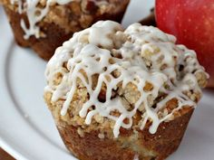 Apple Pie Streusel Muffins - Can't Stay Out of the Kitchen