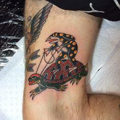 Daniel Octoriver as featured on www.swallowsndaggers.com #tattoo #tattoos #frog