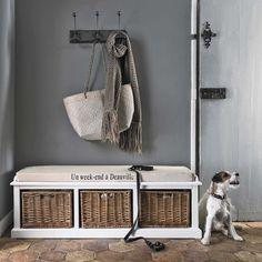 Banco de almacenaje con 3 compartimentos blanco | Maisons du Monde