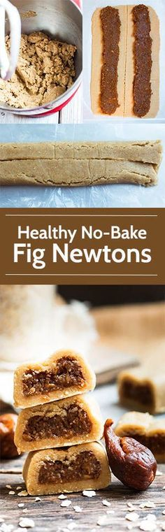 Healthy No-Bake Fig Newtons | A healthy fig newton recipe that does not require any baking and is made without refined sugar. A kid-friendly, healthy, gluten free and dairy free snack or dessert!