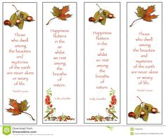 Image result for autumn bookmarks