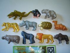 Kinder Surprise Set  Natoons Wild Animals by KinderSurpriseToys