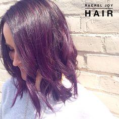 Beautiful purple hair.  RACHEL JOY HAIR