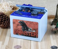 2017 New Global Product Godzilla Musical Sound LED Lights Monster Movie Electronic Money Box Piggy Bank Coin Bank