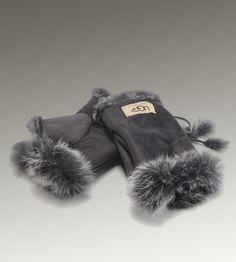 e74fd754cf3 Women UGG Fingerless Glove Grey Uggs On Sale