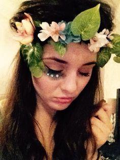 DIY Mother Earth/Nature flower crown & makeup