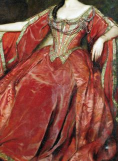 Portrait of Alice Crawford in the role of Olivia, Twelfth Night, Detail. by William Logsdail (1859-1944) Dated: 1907