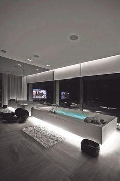 Fancy black & white bathroom