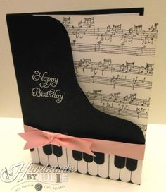 Piano card, I have sheet music wrapping paper for this!