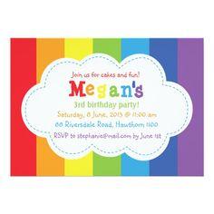 Nice FREE Rainbow Birthday Invitations