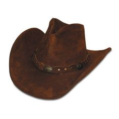 5e95d3abf0f Minnetonka 9613 - Silverton Dude Hat - Brown Rough Leather-WESTERN WEAR  Personalize your look with this dude ranch-inspired hat.