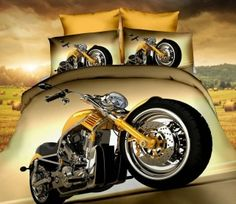 Detské obliečky 3D-140x200 MOTORKA č.9 Bedroom Bed, Bedroom Decor, Chopper, Vehicles, Lamps, Bedding, Lightbulbs, Bed Linens, Choppers