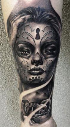 Tattoo Artist - Carl Grace - muerte tattoo | www.worldtattoogallery.com