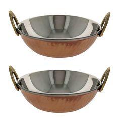 Serving Bowl Karahi Indian Dishes Serveware Set of 2 ShalinIndia http://www.amazon.com/dp/B00BSNAQRA/ref=cm_sw_r_pi_dp_l918vb0KDNBAK