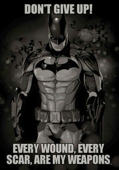 This picture isn't just a Batman picture referring to his terrible past. It has a true story, it's showing how all the terrible, miserable, regrettable, and horrifying that has happened in his life drove him to being Batman, making a difference, being a good role model, and bringing change into our world. His past made him who he is today.