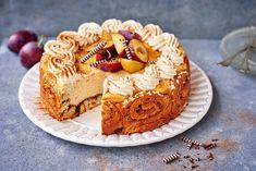 Korvapuusti-juustokakku Let Them Eat Cake, Pie Recipes, Love Food, Tiramisu, Cheesecake, Food And Drink, Cupcakes, Sweets, Baking