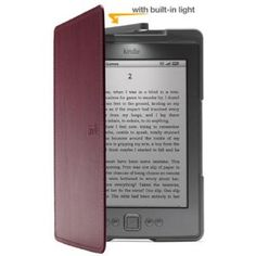 Amazon Kindle Lighted Leather Cover, Wine Purple (does not fit Kindle Paperwhite, Touch, or Keyboard) --- http://www.amazon.com/Amazon-Lighted-Leather-Paperwhite-Keyboard/dp/B004SD213O/?tag=crand4u