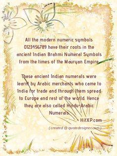 Origin of modern numeric symbols 123456789