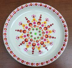 Dot Painting, Mandala, Dots, Plates, Tableware, Pointillism, Drawing Drawing, Stitches, Licence Plates